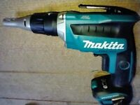 New Makita 18v LXT brushless dfs452 drywall gun. Dfs452z screwdriver