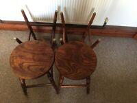 4 small wooden bar stools