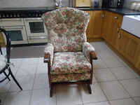 Vintage fireside rocking chair in good clean condition