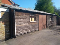 Large Store/Garage with double doors, 9.1x5.4metres