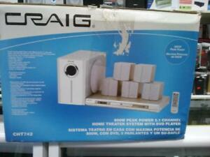 Craig DVD 5-Speaker Home Theater System with Subwoofer - $50