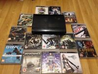 PlayStation 3 with 14 games! (Control pad and wires included)