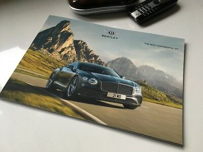 RARE - 2018 NEW Bentley GT Continental Brochure