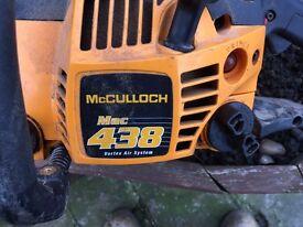mc culloch 438 vortex air system chainsaw
