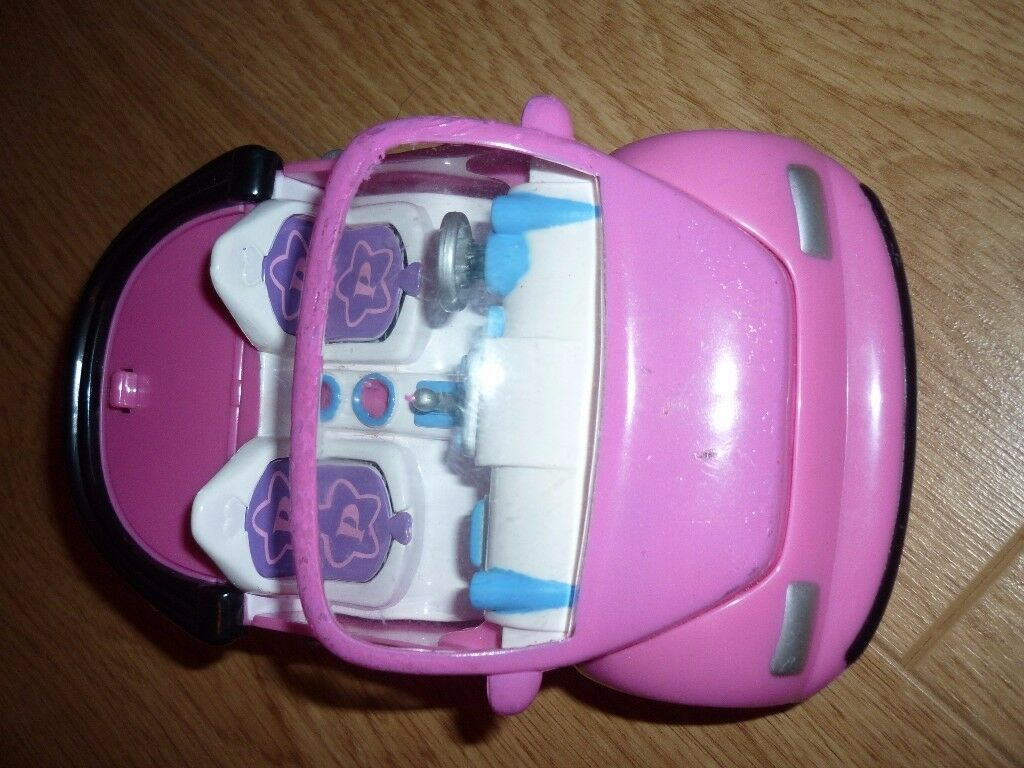 Polly Pocket Pink VW Bug Car 2001 changing seats Rare!
