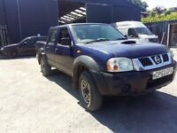 breaking blue nissan navara d22 yd25 double cab 4x4 manual parts spares repairs