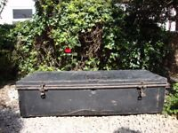 Large, Ex R.A.F. Heavy Duty Steel Trunk.