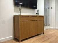 Oak Veneer Wooden Sideboard Good Quality and Trendy NEXT