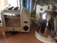 Dualit kettle and 2 slice toaster