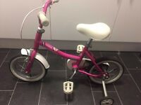 Raleigh Child's bike with stabilizers aged 3-5