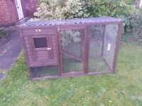 Rabbit or chicken hutch and run combined