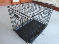 Dog Crate, small, excellent condition, never used, comes in original box, foldable
