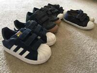 4 pairs boys shoes trainers Adidas & Blue Zoo size 5.6 &7