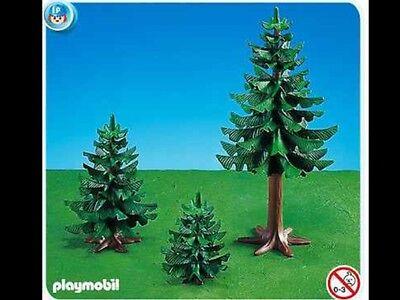 3 pinos playmobil 7725 oeste western belén bosque árboles bolsa precintada abeto