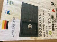 Schock black onyx kitchen sink.
