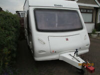 Elddis Explore 302 light weight 2 berth caravan.VGC.Fridge,Cooker,Toilet/Shower,Blown Air Heating