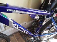 Python VENOM 180 Dual Suspension 21 Gear Mountain Bike