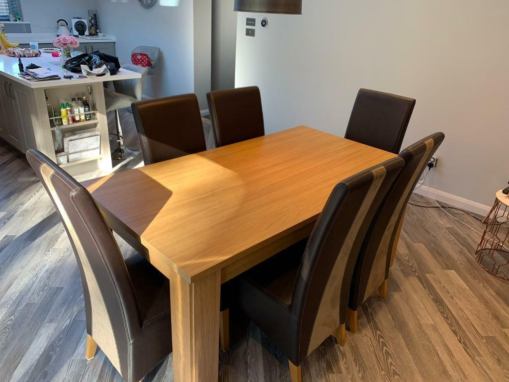 Dining table and six chairs (Harvey's) | in Taverham ...