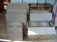 114 Cardboard Packaging Boxes in Various Sizes. All New and Unused