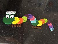 Orange Tree Caterpillar alphabet puzzle