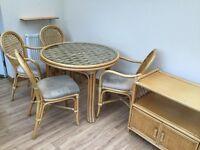 Conservatory furniture (table, 4 chairs with matching occasional table