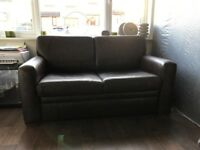 Brown Lesther Two Seater Sofa Bef
