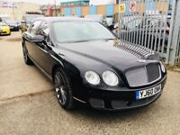 BENTLEY FLYING SPUR 2010 6.0 SALOON 4 DOORS BLACK SATNAV LEATHER HIGH SPEC LOW MILEAGE
