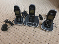 BT 7600 Trio Cordless Dect Digital Phones with Answer Machine