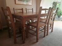 NEXT - Pine Table & Chairs