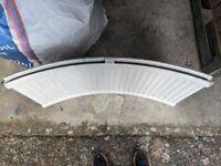 Curved bay window radiator