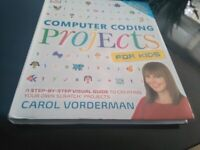 Computer Coding Project For Kids. By Carol Vorderman. Like New Book. Collection only