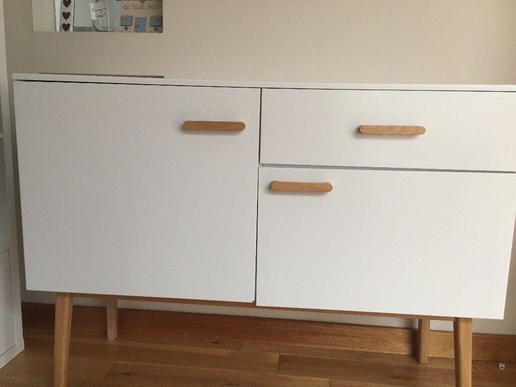 Habitat White Sideboard With Oak Handles And Legs In Corstorphine Edinburgh Gumtree