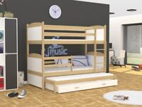 Bunk Bed or Triple Bunk Bed MATTIE with mattresses and free delivery