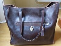 Used Large Mulberry Somerset Shopper Tote Chocolate Brown Bag