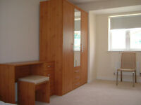 An En-suit bedroom in furnished 5-bed house shared with 3 other professionals near science parks