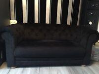 Black chaise longue sofa boutique style