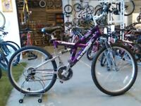 ADULT/OLDER CHILDS OLYMPUS ELECTRON BIKE 26 INCH WHEELS 21 SPEED GOOD CON