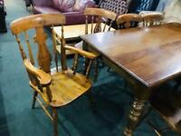 Stunning as new top quality farmhouse table and 8 chairs