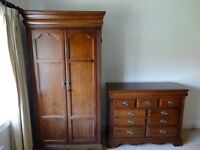 Wardrobe and chest of drawers Victorian style