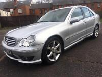 MERCEDES C180 SPORT EDITION GENUINE LOW MILES 55000 12 MONTHS MOT AUTOMATIC FULL LEATHER 2005