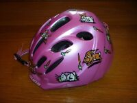 Girls First Bicycle Helmet – Pink with bunny pattern