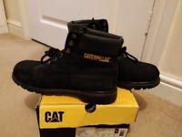 Original Cat Caterpiliar Mens Shoes Boots Colorado Black EU42 UK8(Used)