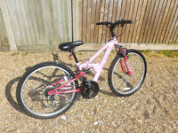 "Pink Apollo Girl's Bike / Bicycle with 24"" Wheels"