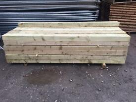 🌎New Tanalised Wooden Railway Sleepers @ £15 each