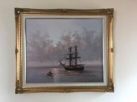 W Vennekamp oil on canvas original signed painting for sale