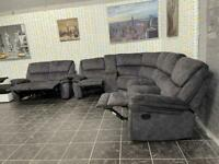 New recliner corner sofa with 2 seater recliner