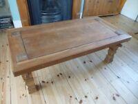 solid wood teak, coffee table