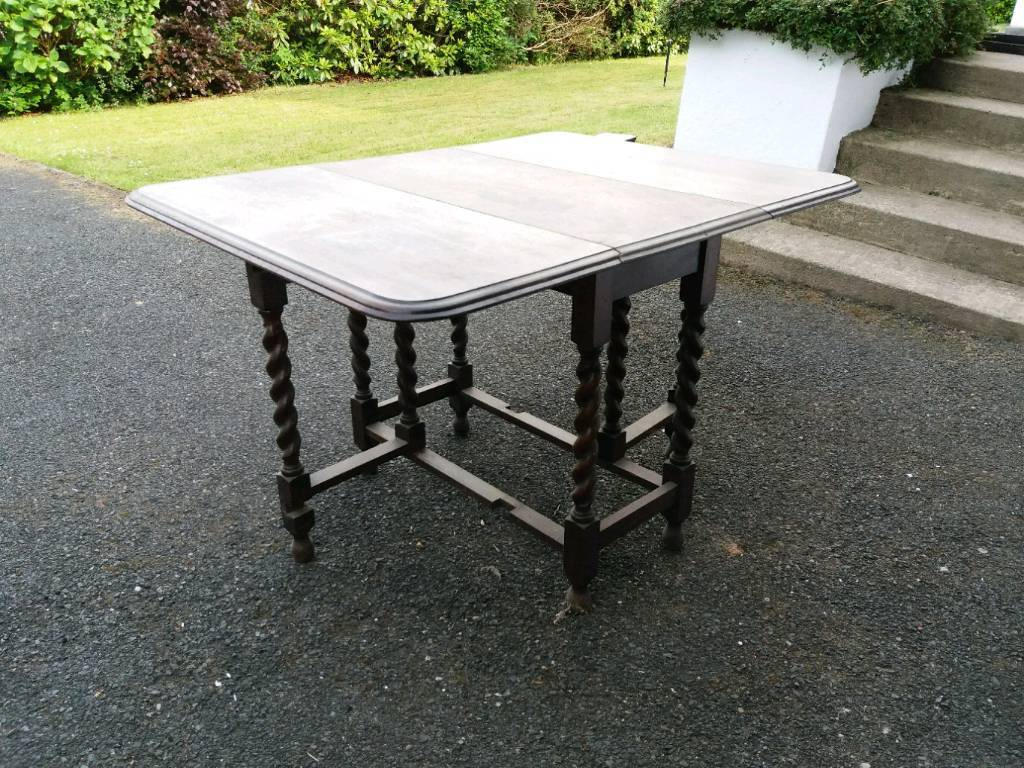 Fabulous Antique Fold Down Solid Wood Table In Newtownabbey County Antrim Gumtree Download Free Architecture Designs Intelgarnamadebymaigaardcom