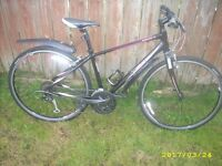 Giant Escape 1 Womens Ladies Female Hybrid Commuter Bike Pink & Black Small Carbon Forks May Deliver
