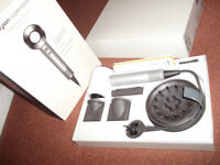 DYSON Supersonic Professional Hair Dryer - White & Silver AS NEW